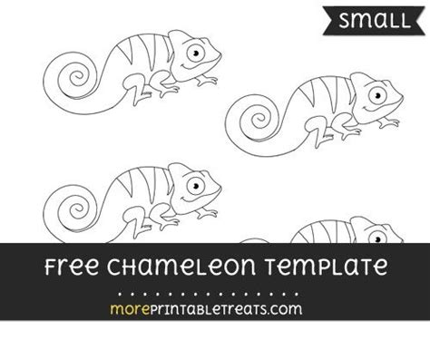 free chameleon template small shapes and templates
