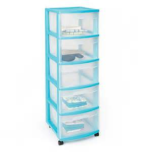 Plastic Drawer Cart View Sterilite 174 5 Drawer Plastic Storage Carts Deals At