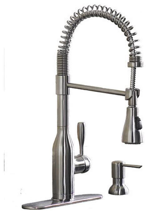 modern kitchen faucets stainless steel aquasource stainless steel 1 handle pull down kitchen
