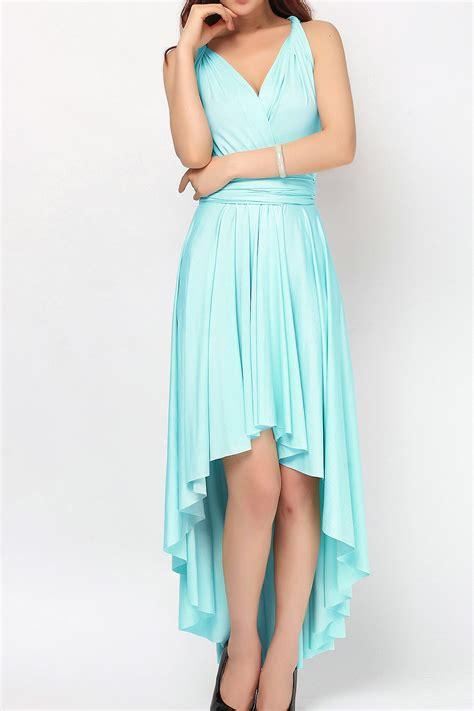 light blue high low dress baby blue high low infinity dress bridesmaid dresses hl