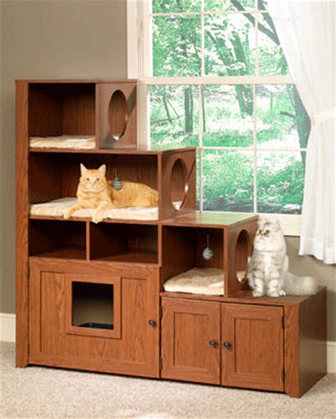 Modern Espresso Desk Pet Cute Room Wood Litter Cabinets Keep Cats And Owners Happy