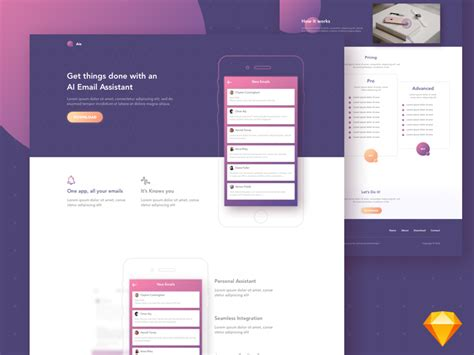 free landing page design templates for free download psd html aie free app landing page template freebie download
