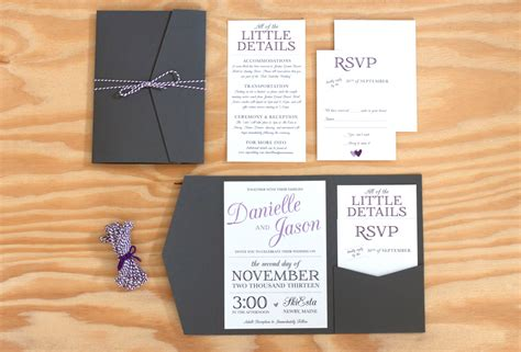 Wedding Pocket Invitations by Pocket Wedding Invitation Packaged Wedding Invitation
