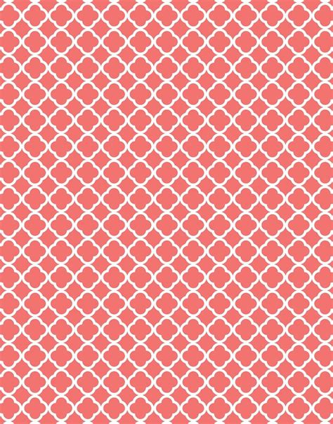 quatrefoil pattern background coral quatrefoil moroccan damask and polka dots free