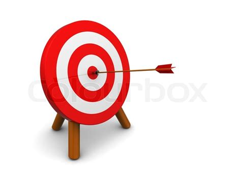 ziel erreicht 3d illustration of archery target hit with arrow over