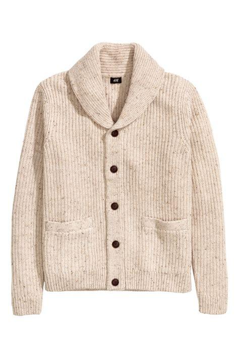Cardigan Lp 5 shawl collar cardigan beige sale h m us