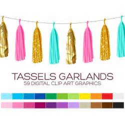 Turquoise And White Rug Tassel Garland Clipart Banner Clipart Pennant Clipart