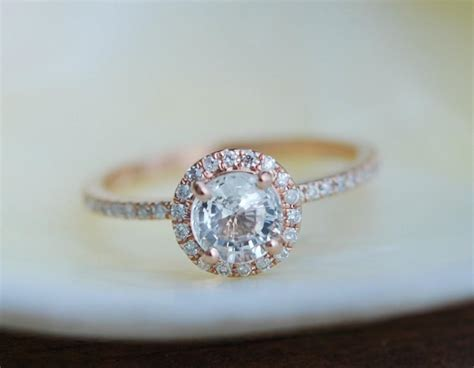 gold ring engagement ring with 1ct