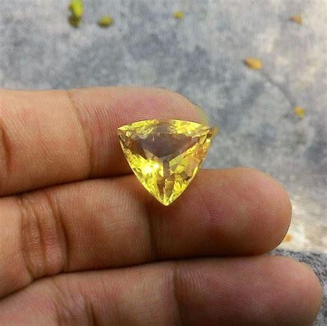 Batu Akik Citrine batu permata yellow citrine kode 327 wahyu mulia