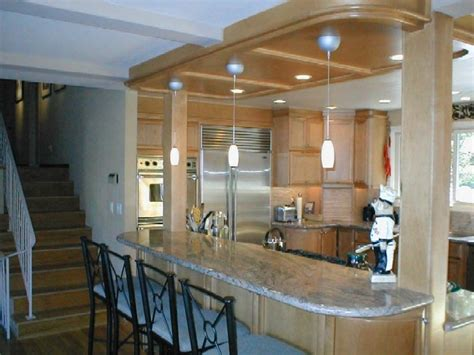 columns on kitchen island kitchen reno