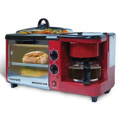 Aroma Breakfast To Go 3 In 1 Toaster Oven Grill Coffee Maker by Courant 3 In 1 Breakfast Center Toaster Oven Cbh 4601r