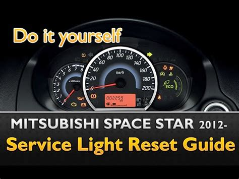 reset l200 service light mitsubishi space star service light reset guide youtube