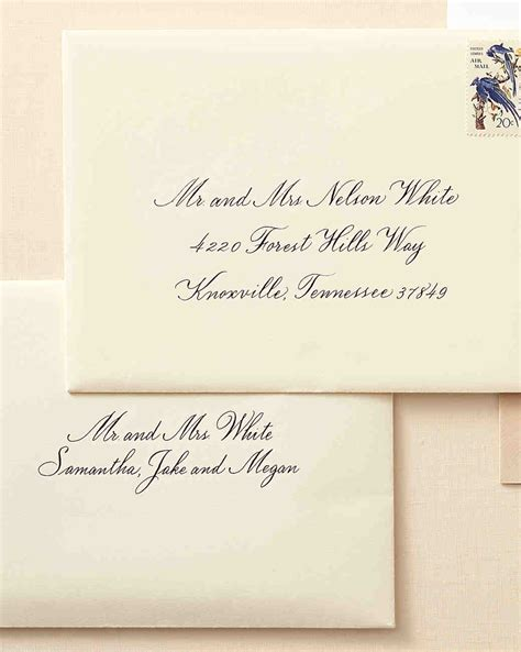 Wedding Invitation Letter To Family How To Address Guests On Wedding Invitation Envelopes Martha Stewart Weddings