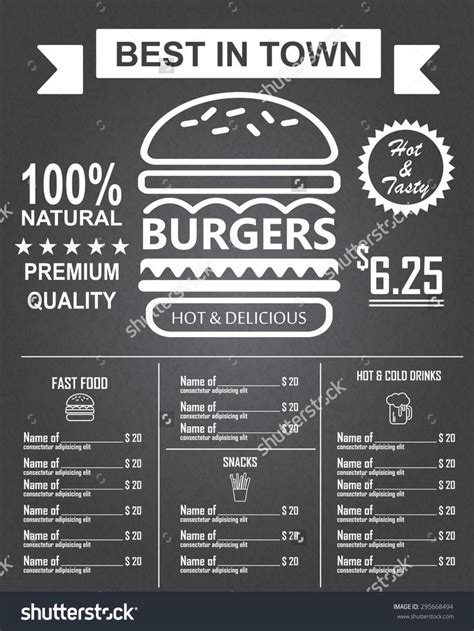 Top Bar Burger Menu by Best 25 Burger Menu Ideas On