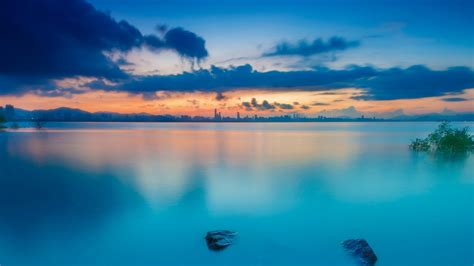 sunset waters wallpapers hd wallpapers id