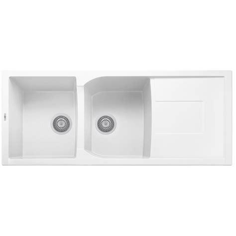 white granite composite sink white 46 quot bowl granite composite kitchen sink with