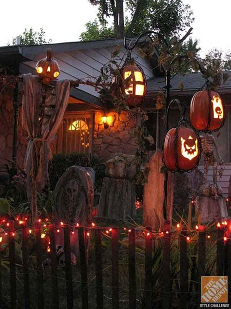 backyard halloween decorations 19 easy and spooky diy lights for halloween night