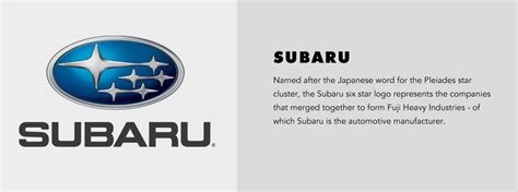 cool subaru logos car logo meanings cool material