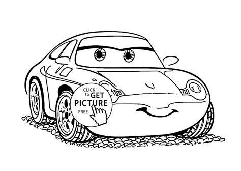 cars sally coloring page sally cars coloring page for kids disney coloring pages