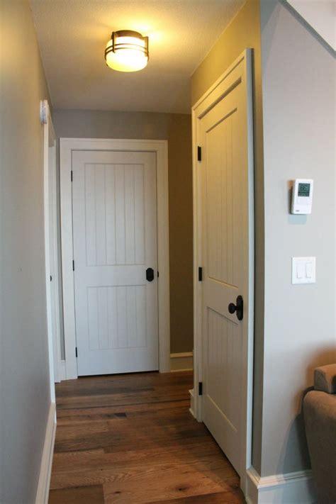 interior doors sleek cottage style  white molded