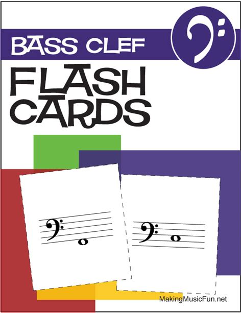 free printable music notes flash cards bass and treble music flashcards bass clef note names digital print