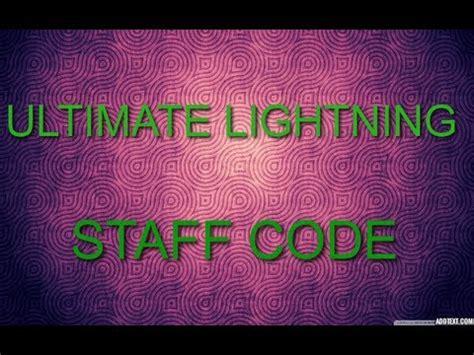 Lighting Staff Code Ultimate Lightning Staff Code Ll Always Works Ll Black
