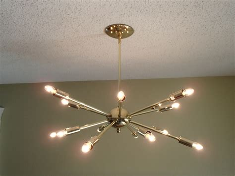mid century atomic brass sputnik 16 arm by starlightlighting