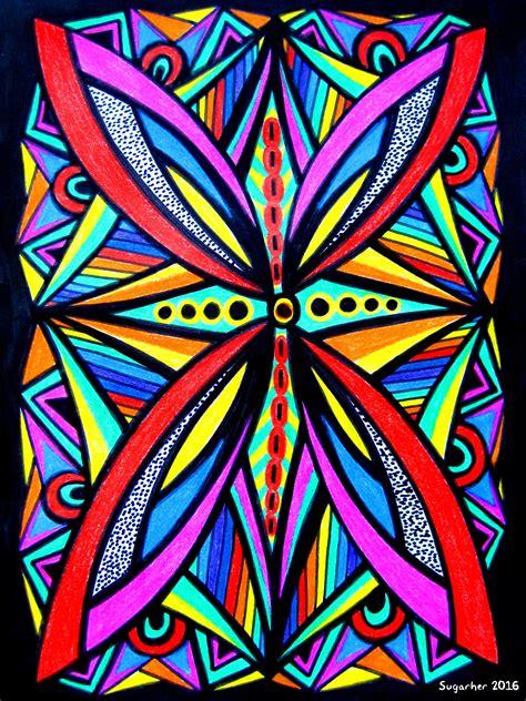 imagenes iconicidad abstraccion dibujos rotulador y pinturas de colores alpino