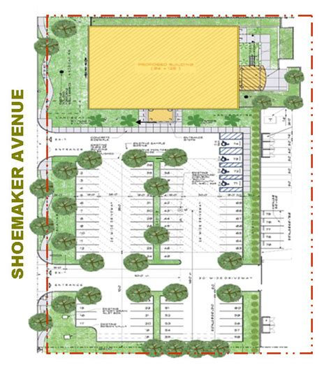 construction site plan santa fe springs kiewit office building