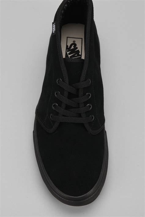 vans suede chukka boot in black for lyst