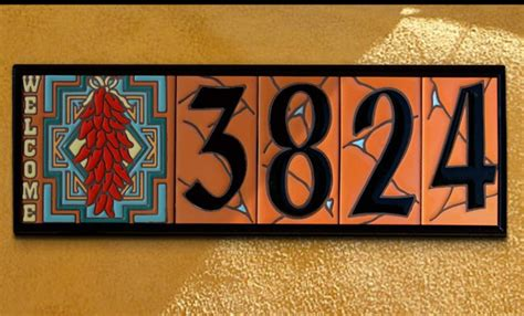 ceramic house signs to design yourself house numbers 3 quot x 6 quot ceramic tile terra cotta address design per tile ebay