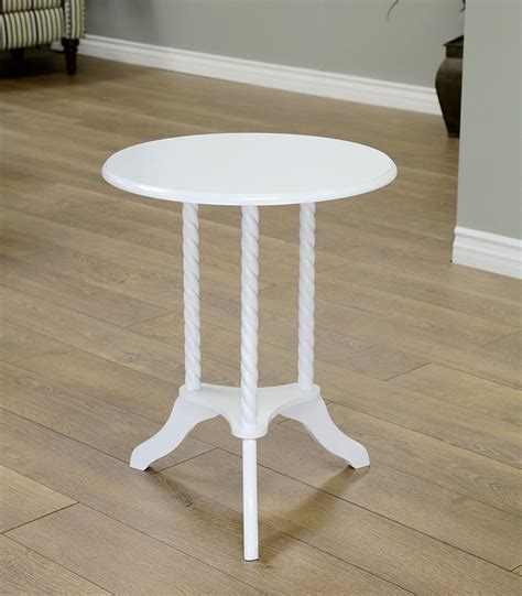 white round accent table white round end table home furniture design