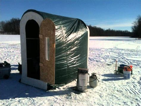 portable ice house minimalist ice fishing house portable home inspiring
