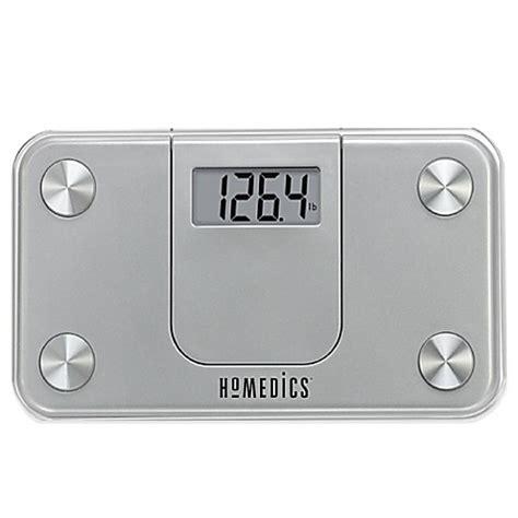 homedics bathroom scale homedics 174 mini bathroom scale in silver bed bath beyond