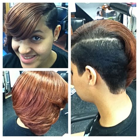 partial short weaves partial quick weave with cut my hair designs pinterest