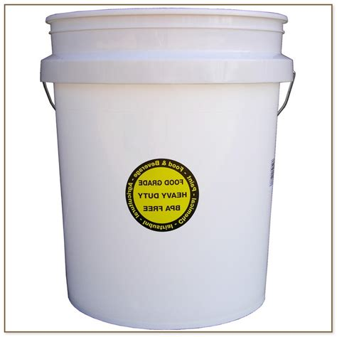 home depot buckets with lids