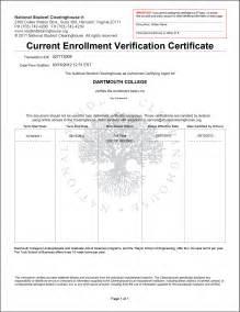 Certification Letter For Enrollment Enrollment Verification