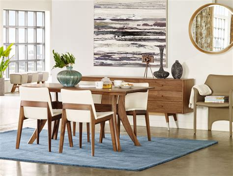 florence brown rectangular small dining room set  moes