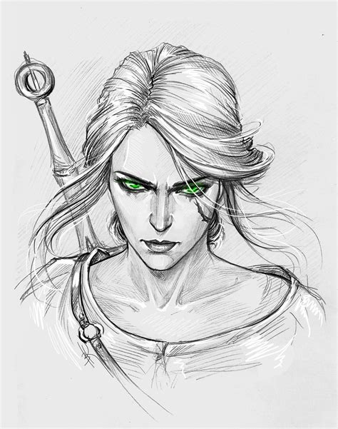 Witcher 3 Sketches ведьмачьи порисульки 28 photos vk ciri
