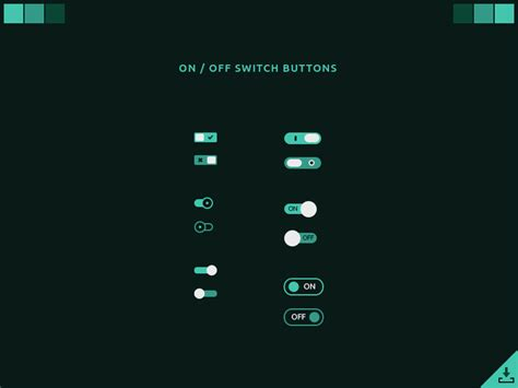 ui layout toggle ui challenge on off switch button 015 freebies
