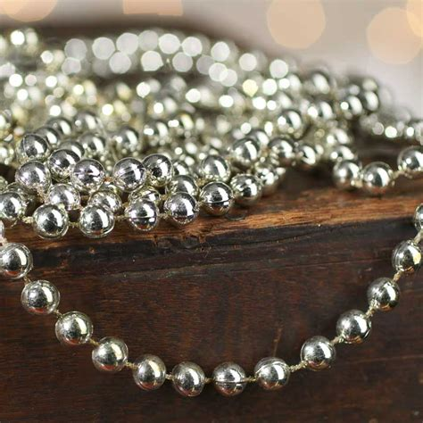 antique silver bead garland ribbon sale sales