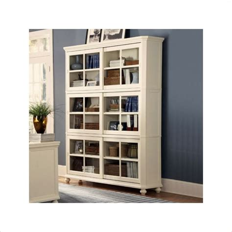 white barrister bookcase homelegance 4 wood barrister bookcase set in