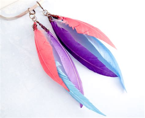 feathers for jewelry diy feather earrings a free photo tutorial on the craftsy
