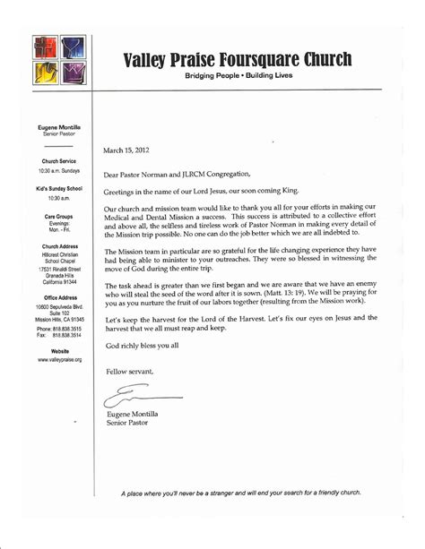 thank you letter to youth pastor the living rock church of iloilo city thank you note from