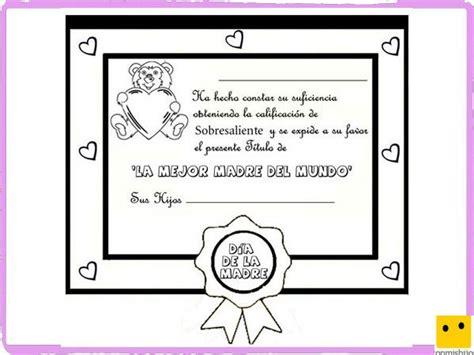 diplomas de madre dibujos para colorear diploma a la mejor madre