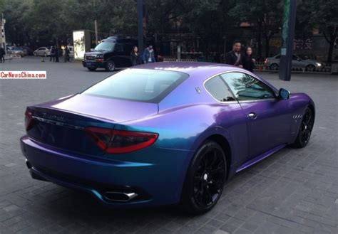 maserati china maserati granturismo is shiny purple blue in china