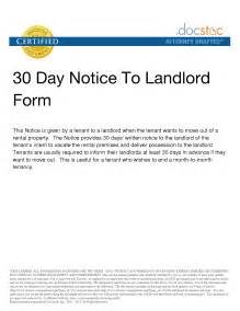 30 day move out notice template 10 best images of 30 day move out notice 30 day notice