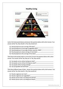 healthy living worksheet free esl printable worksheets
