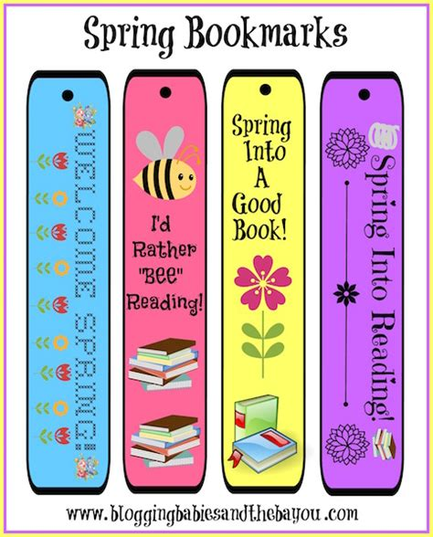 printable bookmarks spring free spring printables and spring theme activity sheets