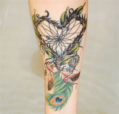 dream catcher tattoo in memory of eagle feathers memorial tattoos and dream catchers on